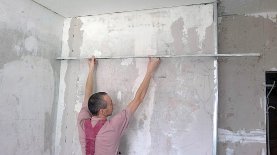 Como alisar paredes de gotele - Como quitar el gotele de la pared ...