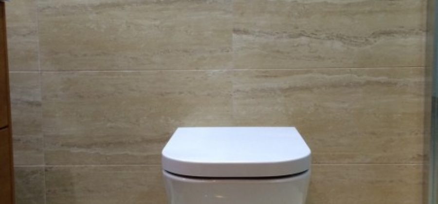 Instalación de un inodoro suspendido