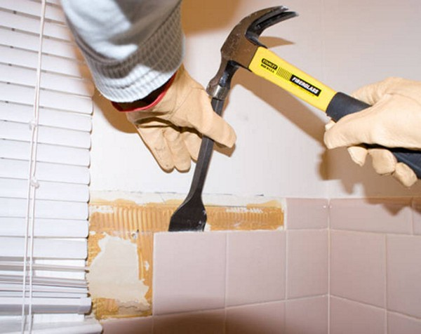 C mo quitar los azulejos de la pared reformaster - Como poner baldosas en el piso ...