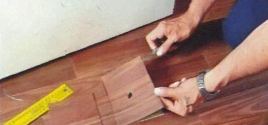 Cómo reparar un linóleo dañado (dos maneras)
