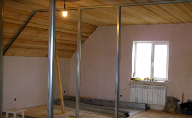 C mo hacer una pared de pladur para dividir habitaci nes - Como hacer una pared de pladur ...