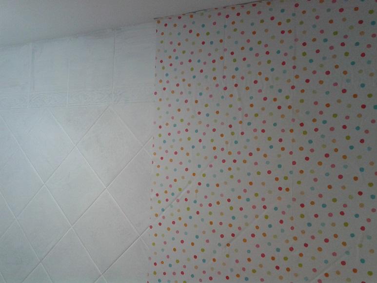 Azulejos Baño Sueltos:Cómo pegar papel pintado sobre azulejo –