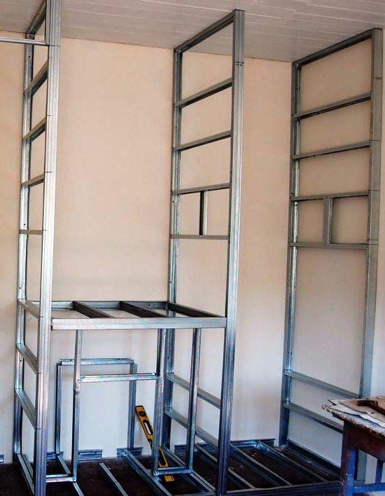 C mo hacer un armario de pladur las ventajas y pasos de for Muebles de pladur para salon