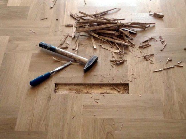Limpiar parquet muy estropeado consejos de limpieza with - Reparar piso parquet ...