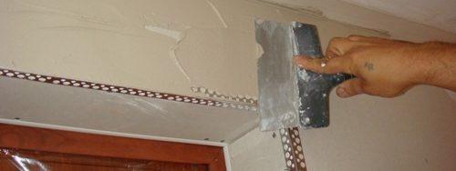 C mo reparar una pared de pladur techo estructuras for Esquineras de pared