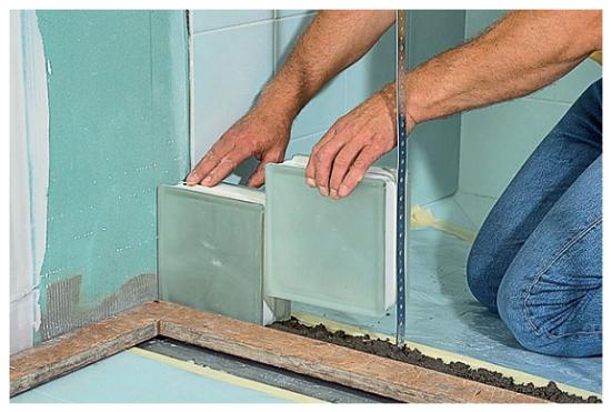 Colocar paves paso a paso affordable pared de pavs with - Ladrillos de cristal ...