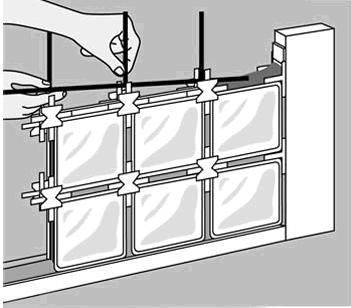 3 maneras de poner ladrillos de vidrio reformaster - Ladrillos de cristal ...