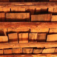 Techo de madera.